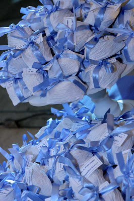 8 Detalhes de um casamento em azul e branco...