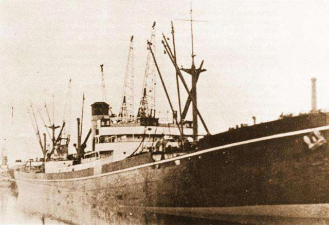 Yugoslavian freighter Trepca, sunk on 13 March 1942 worldwartwo.filminspector.com
