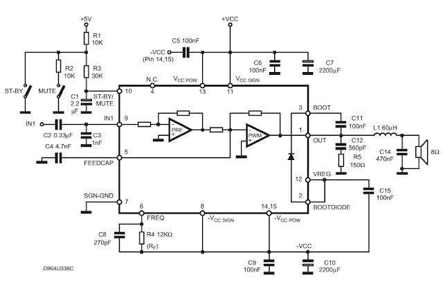 circuit diagram knowledge: tda7482 audio amplifier 1 x 25w tip41 tip42 amplifier circuit diagram