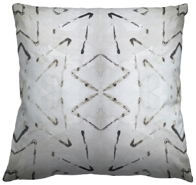 katz tribal print fabric pillow mid century modern like style emily henderson episode pillow
