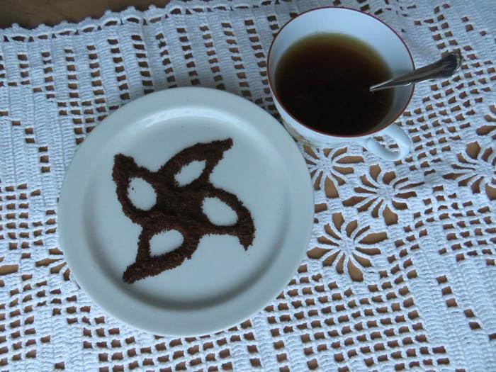 joulutorttu kahvinporoista