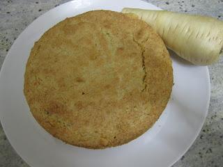 Gâteau de panais, poudre de cacahuètes, légume oublié, cuisinons de saison