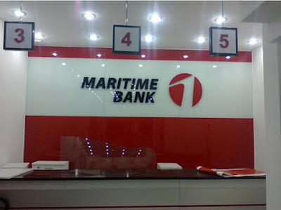 Làm biển quảng cáo cho ngân hàng Maritime Bank.