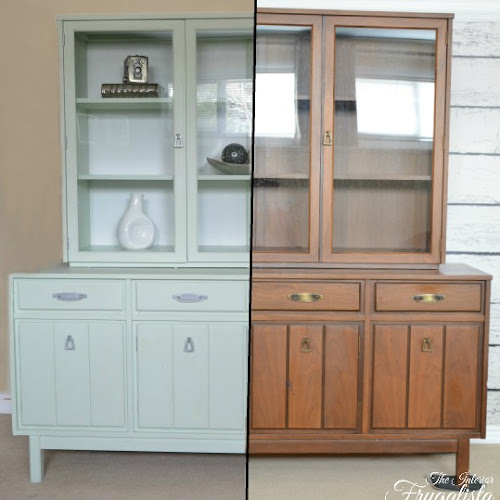 Mint Mid-Century China Cabinet Makeover