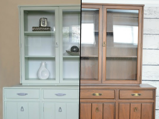 Mint Vintage China Cabinet Makeover