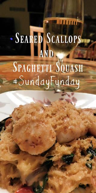 Seared Scallops and Spaghetti Squash pin