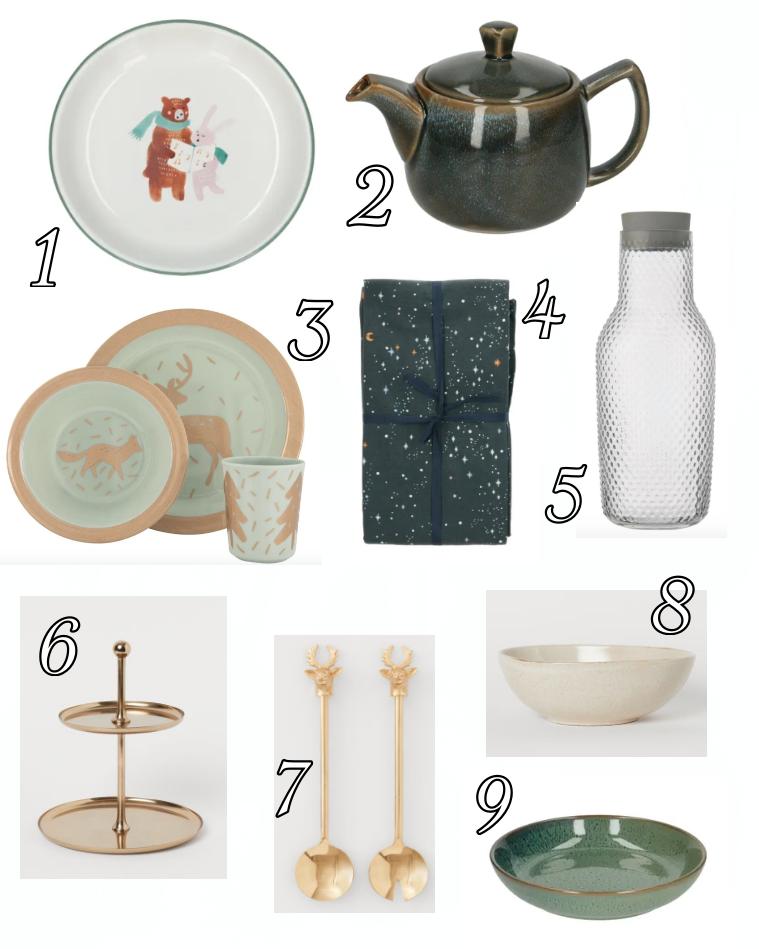 Inspiratie om sfeervol te tafelen tijdens kerst. prachtige items van H&M, Dille&kamille en Hema.