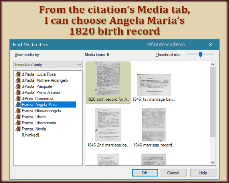 You can add one or more document images to a specific citation.
