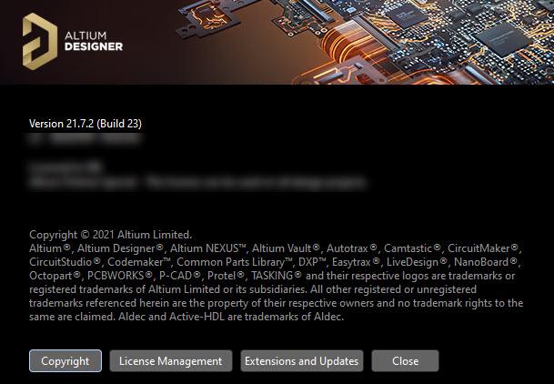 Altium Designer 21.7.2 Build 23