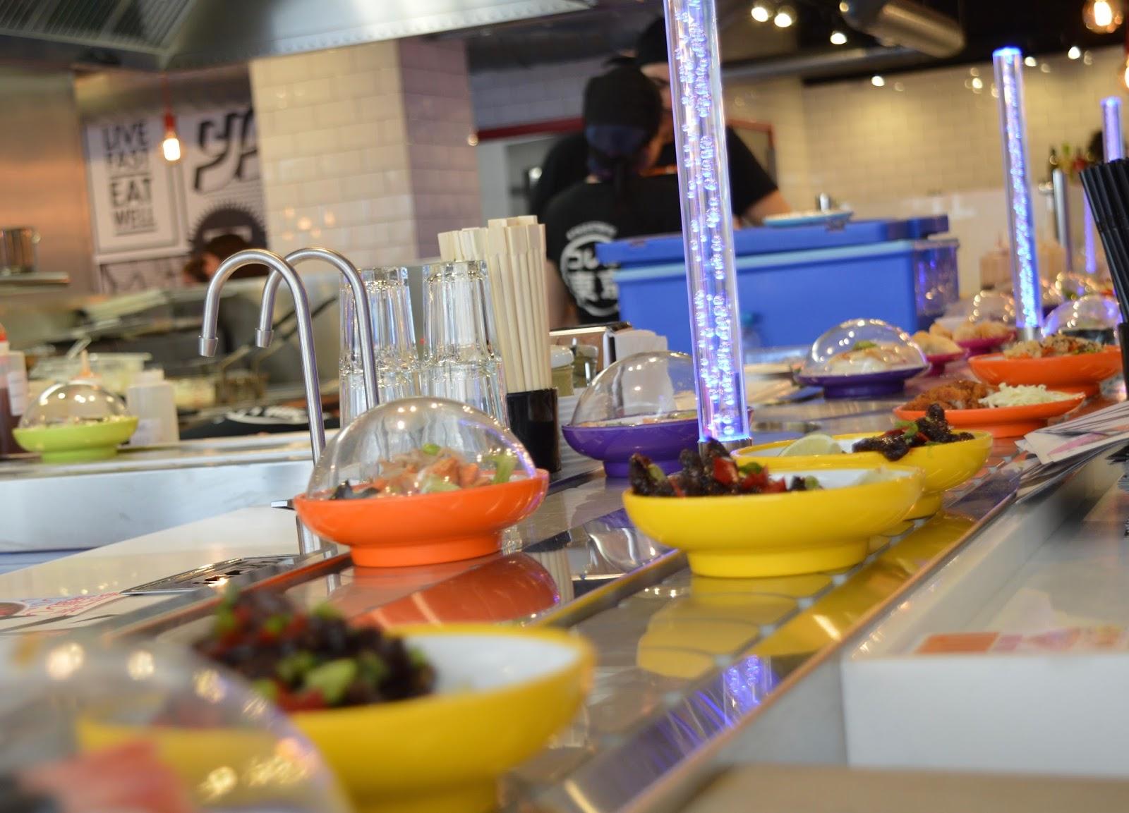 YO! Sushi Newcastle Grainger Street - Kids Menu Review - conveyor belt