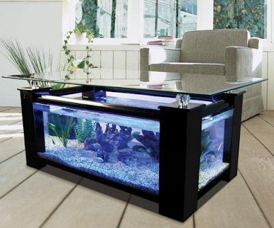 meja aquarium minimalis modern
