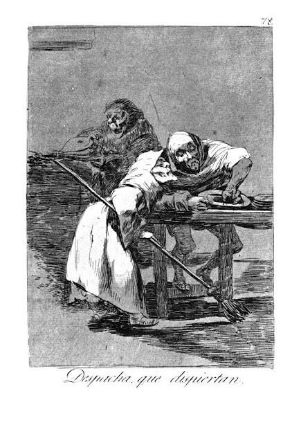 Goya Los Caprichos - Despacha, que dispiertan / Γρήγορα, ξυπνάνε / Be quick, they are waking up