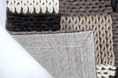 dizajnový nábytok Reaction, bavlnené koberece, patchwork doplnky