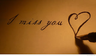 i miss you writing on paper by pen img