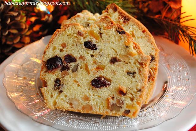 keks świąteczny Wigilia i Boże Narodzenie babkawformie.blogspot.com
