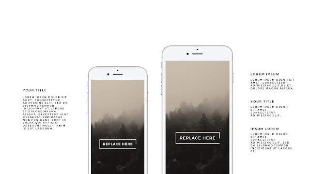 iPhone 7 Silver Mockup Free Powerpoint Template Slide 2