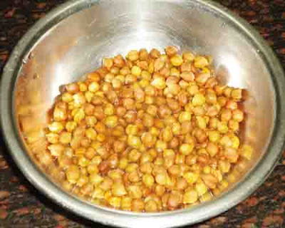 soaked and boiled chana