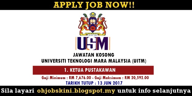 Jawatan Kosong Universiti Sains Malaysia (USM)