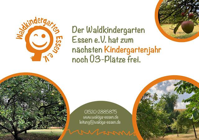 Der Waldkindergarten Essen e.V. hat zum nächsten Kindergartenjahr noch Ü3-Plätze frei.