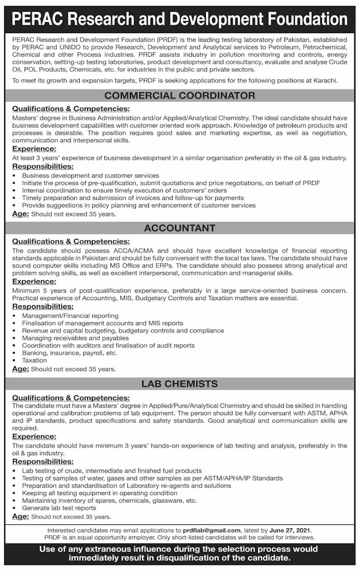 PERAC-Commercial-Coordinator,-Accountant-&-Lab-Chemist-Jobs