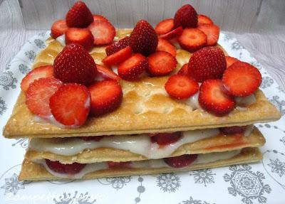 Torta millefoglie alle fragole - Ricetta semplice con le fragole