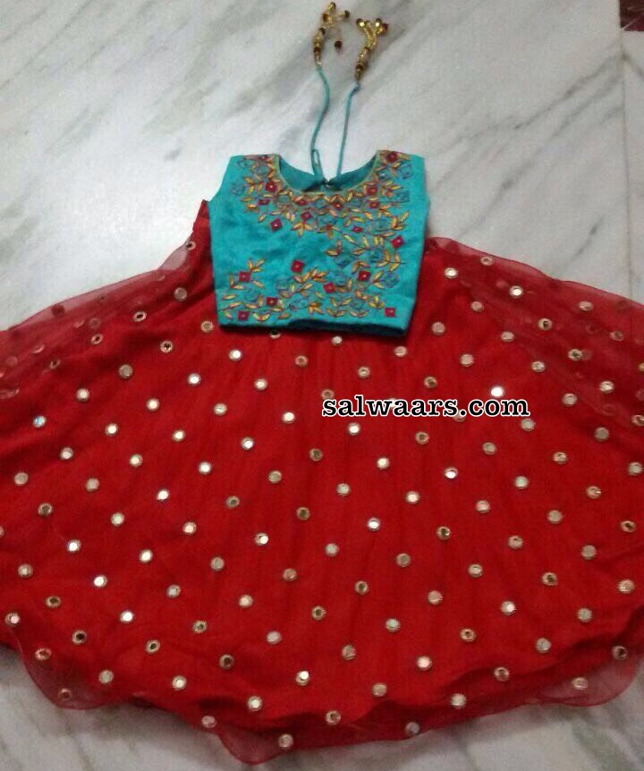 Red Crop Top For Small Kids