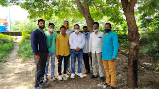 भारतीय जनता पार्टी के आव्हान पर वृक्षारोपण किया गया