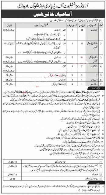 Armed Forces Institute of Radiology and Imaging Rawalpindi jobs 2021
