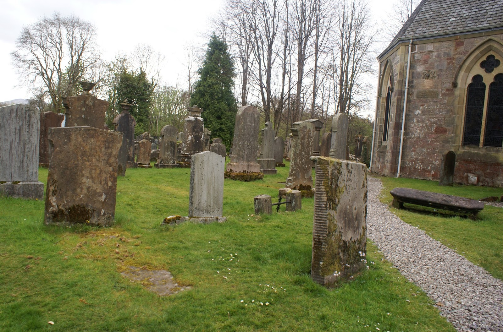 luss church graveyard cemetary loch lomond scotland uk