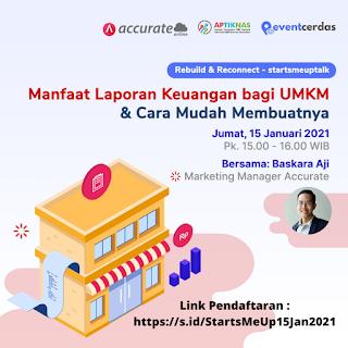 Webinar Apa manfaat Laporan Keuangan bagi UMKM / IKM, bagaimana cara membuatnya?