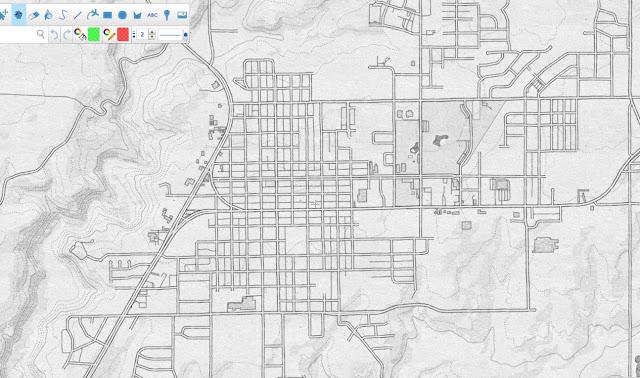 Mapas Rol Mapa de ciudad a lapiz 2