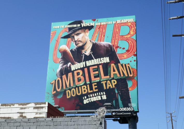 Woody Harrelson Zombieland Double Tap billboard