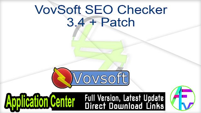 VovSoft SEO Checker 3.4 + Patch