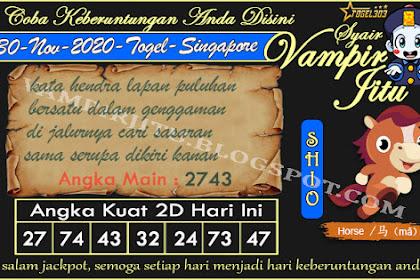 Syair Vampir Jitu Togel SGP Senin 30 November 2020