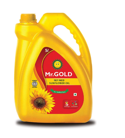 Mr. Gold Sunflower Oil Can, 5L
