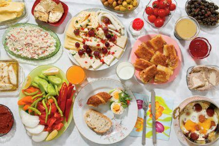 Утренний домашний завтрак в разных местах планеты Земля