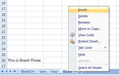 insert multiple sheets in excel
