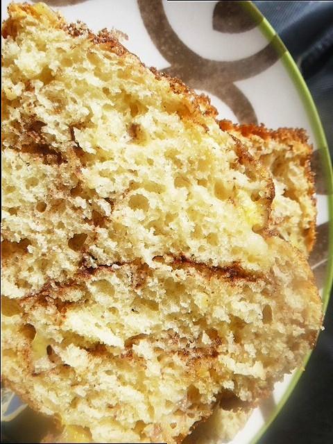 Slice Of Southern Cinnamon Streusel Banana Bread