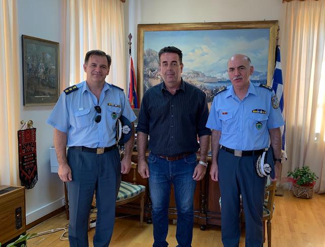 Επίσκεψη του Γενικού Περιφερειακού Αστυνομικού Διευθυντή Πελοποννήσου στον Δήμαρχο Ναυπλιέων