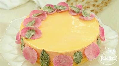 كعكة الهال مع موس الورد - فتافيت