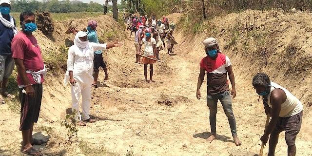 लॉकडाउन में मजदूरों को मिल रहे दैनिक कार्य