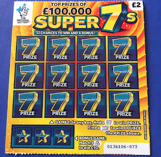 £2 Super 7s National Lottery Scratchcard