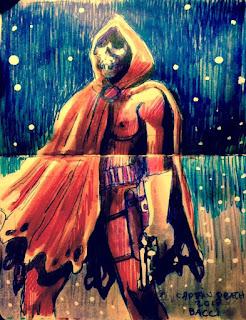 Projet d'illustration en couleurs de Captain Death