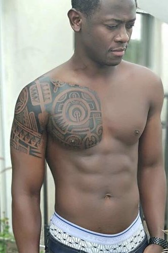 Black Men Shoulder Tattoos
