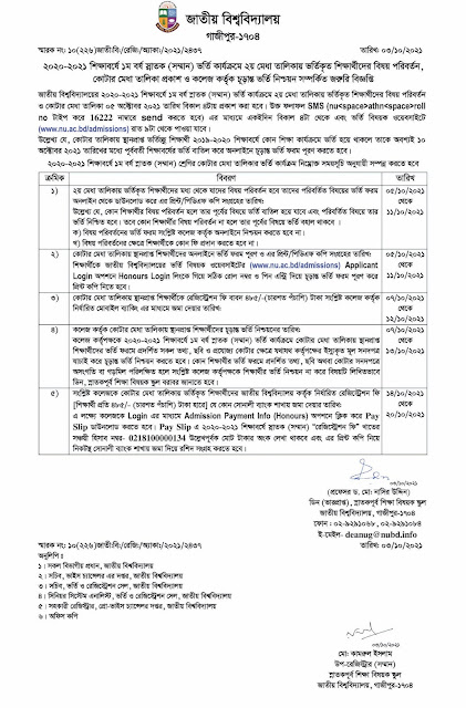 2nd Merit List, Quota and Subject Migration Result