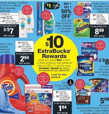 Tide or Pantene CVS Deal $0.42 - 7/7-7/13
