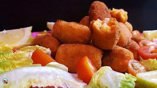 Croquetas de pollo con chorizo