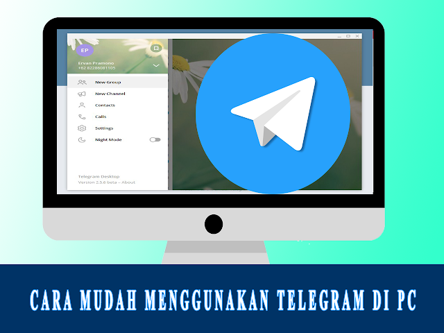 Aplikasi Telegram PC
