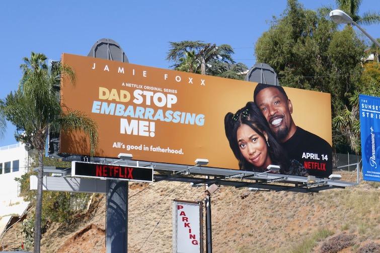 Dad Stop Embarrassing Me series launch billboard