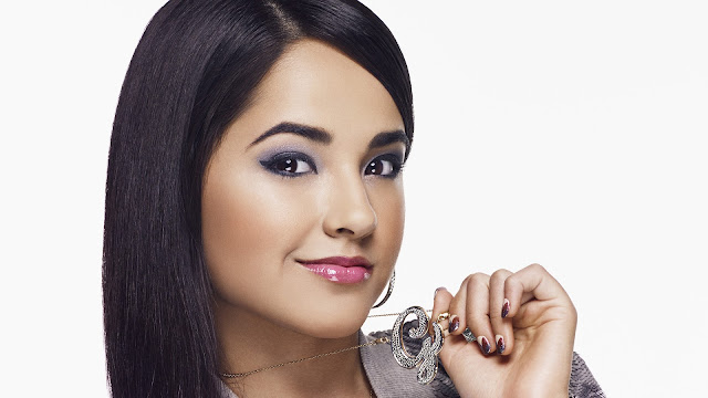 Becky G hd wallpaper showing Initials necklace